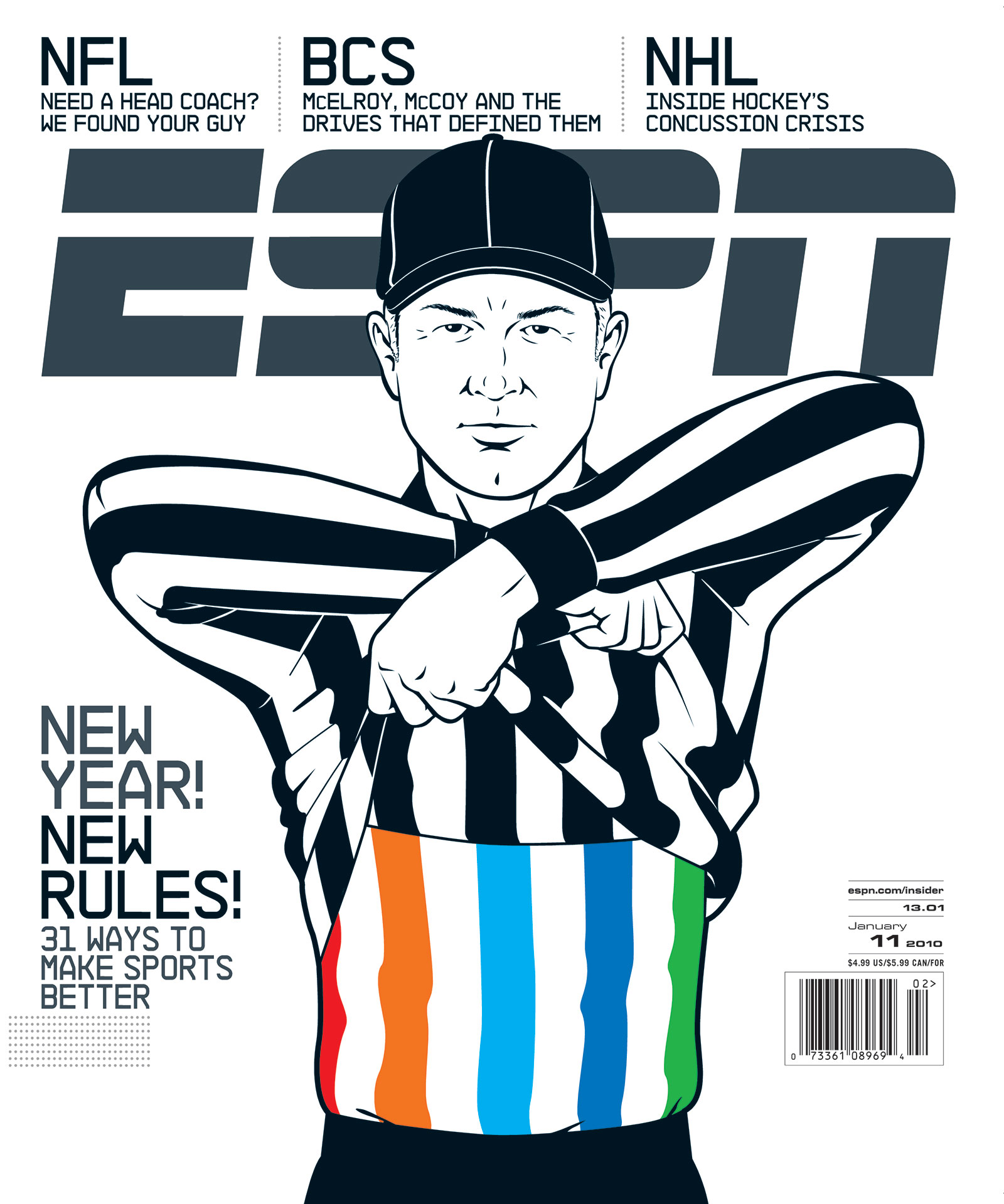 ESPN The Magazine 2010 Covers