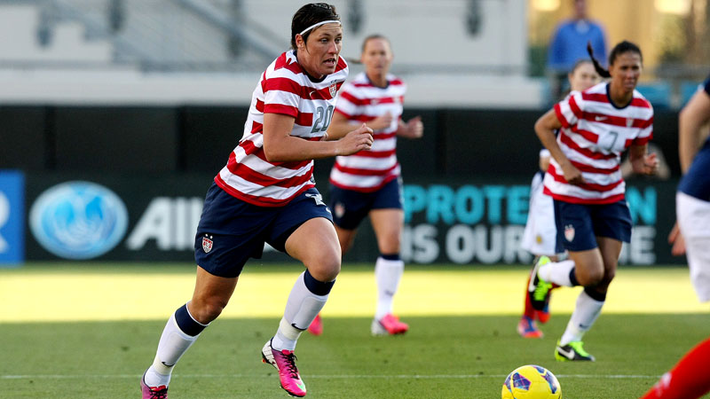 FIFA named women's world player of the year Abby Wambach as a candidate for the 2013 award.