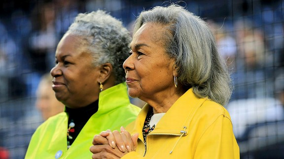 Rachel Robinson, right, the widow of Jackie Robinson, and their daughter Sharon Robinson continue to work tirelessly to carry on Jackie's name and legacy.