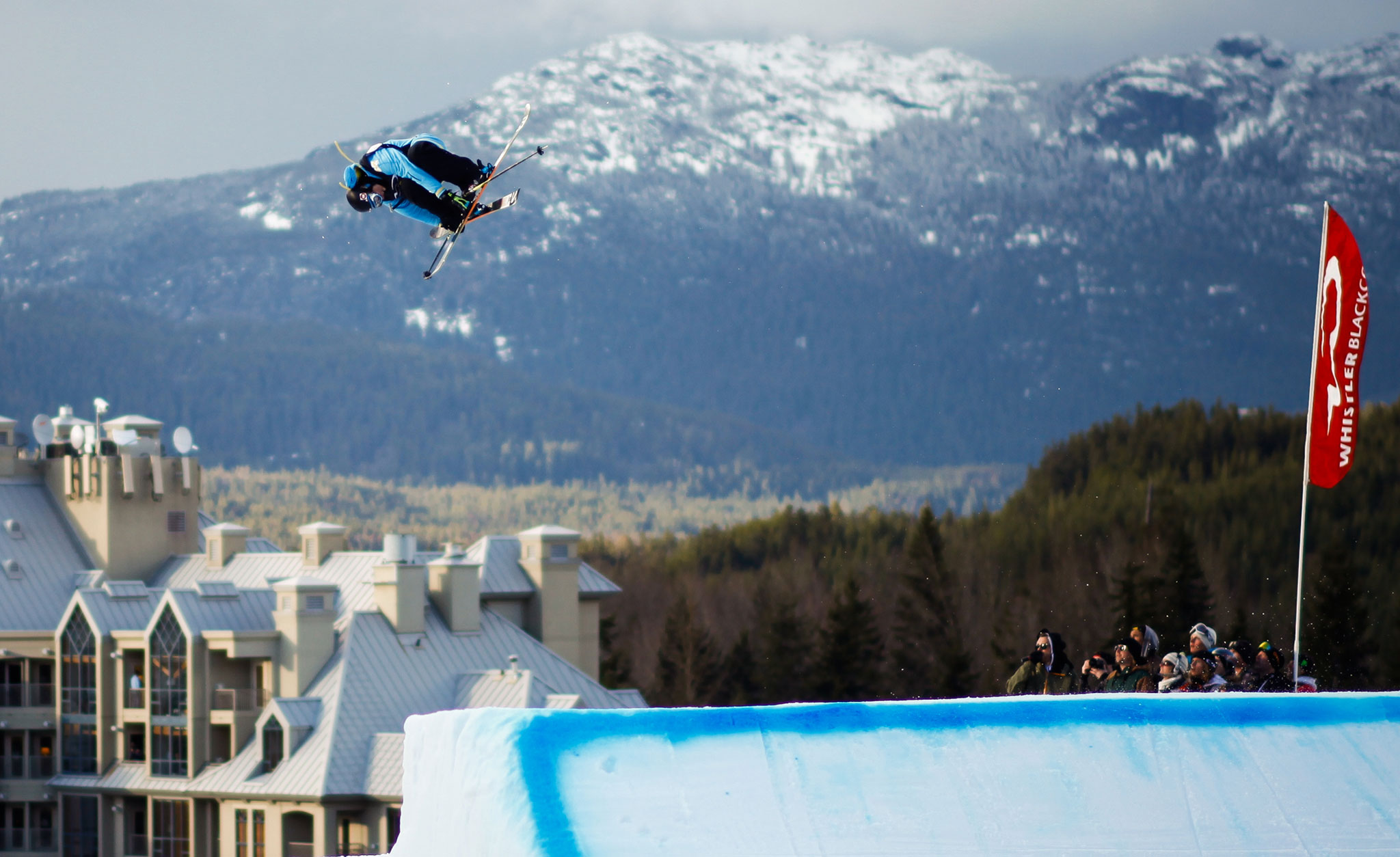 Vincent Gagnier won Saturday night's Big Air contest at the AFP World Championships in Whistler.