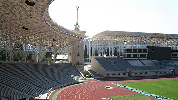 Tofig Bahramov Stadium is a 30,000 or so capacity soccer stadium that was used for a recent U-17 World Cup.