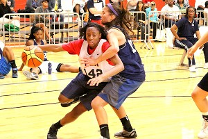 Playing with Kelsey Mitchell is a lot more fun than trying to stop her, new AAU teammate Makayla Waterman says.