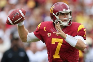 The Eagles selected Matt Barkley with the first pick of the fourth round Saturday.