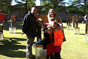 The Bowers family visits the Oklahoma City National Memorial & Museum. From lef, Joe Bowers, Emery Jo, C.J. and Rachell.