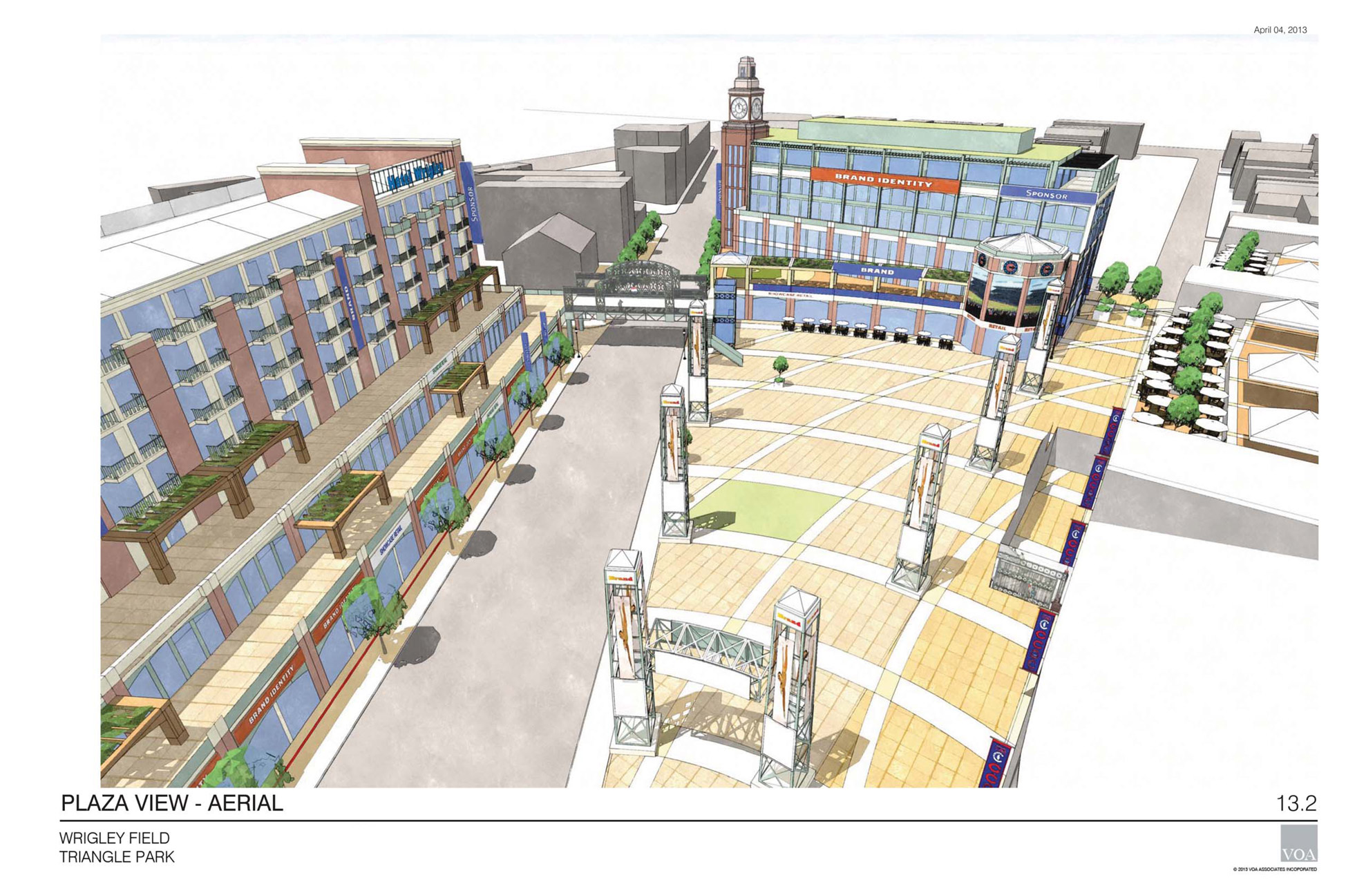 Wrigley Renderings - Plaza