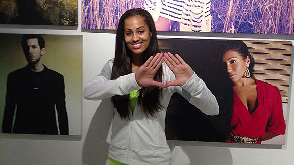 Skylar Diggins tweeted this picture of her throwing the Roc diamond to her followers to confirm her association with Jay-Z's new agency.