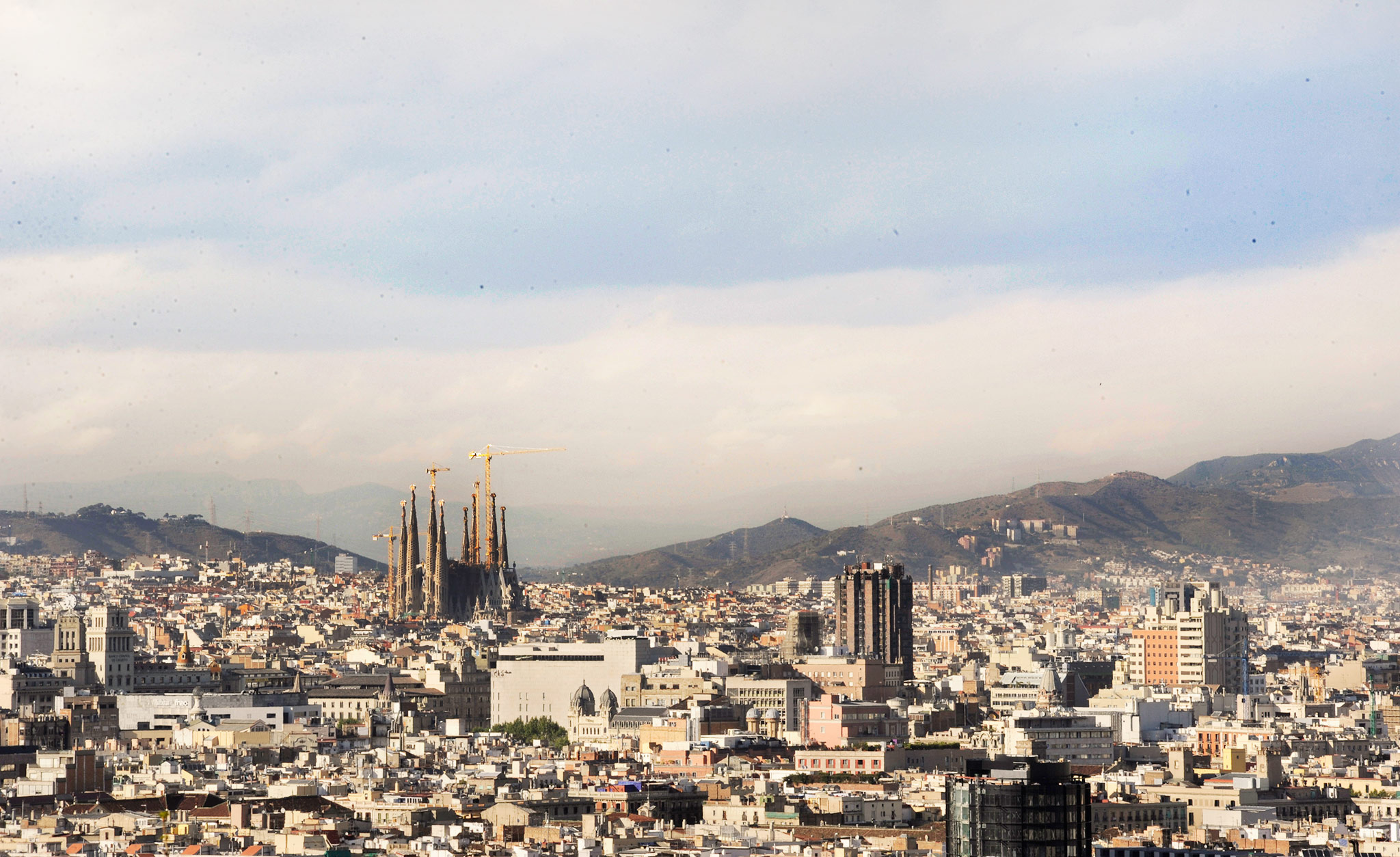 The Sagrada Familia tops the skyline in Barcelona and works as a marker for traversing the city's skatespots.