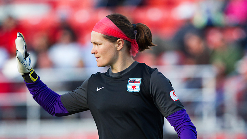 Erin McLeod, acquired in a trade from Chicago before the draft, gives Houston a proven NWSL goalkeeper.