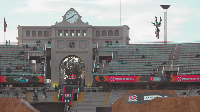 Due to high winds, the Moto X Freestyle final was turned into an exhibition.