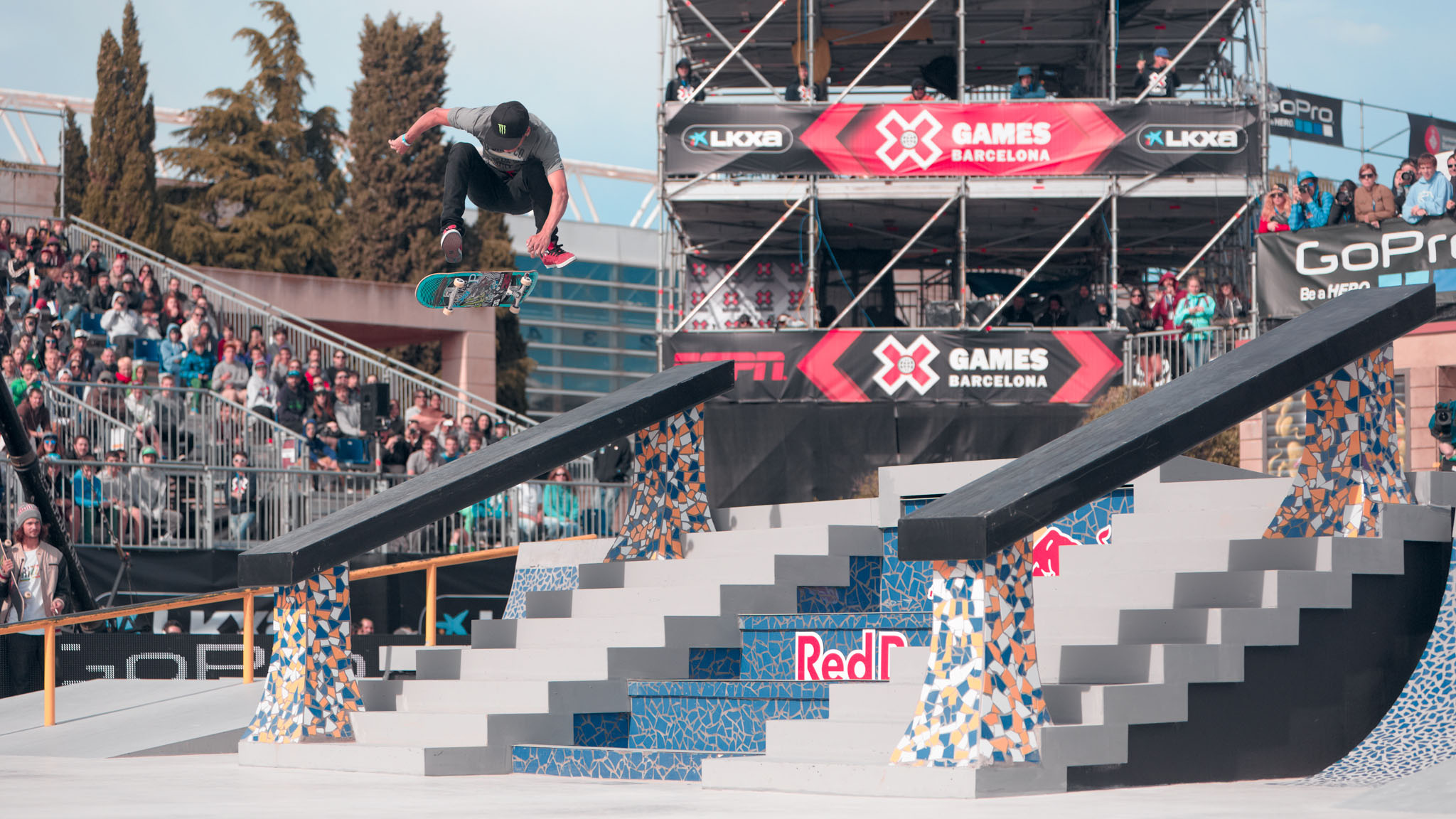 After nearly failing to qualify for finals Friday at X Games Barcelona, the reigning Skateboard Street gold medalist came out on top, beating out P-Rod for the win with his final trick in the contest.