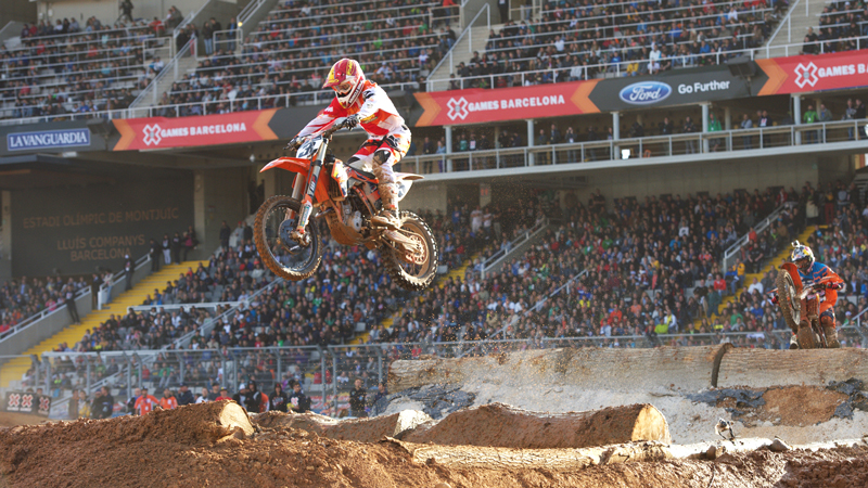Mike Brown, a former Enduro X champion, won again in Barcelona.