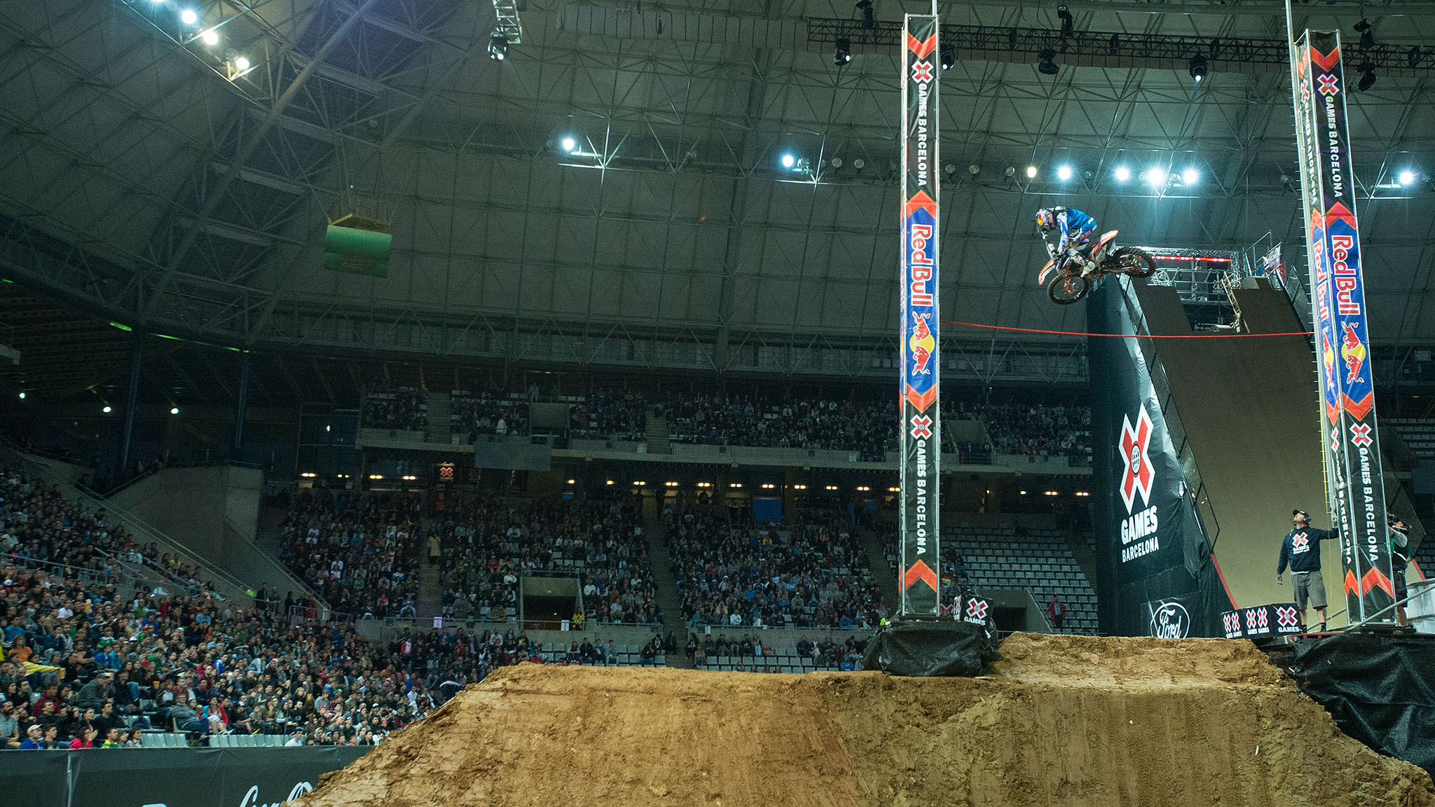 Ronnie Renner earned Moto X Step Up gold in Barcelona after the event's first jump-off.