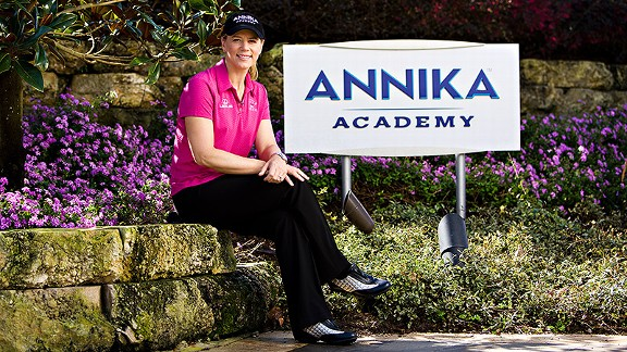 Among her businesses, Annika Sorenstam has a golf academy, clothing line, wine label, fragrance, financial planning group and charitable  foundation.