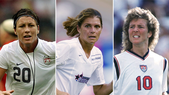 Abby Wambach, Mia Hamm and Michelle Akers were leaders in their own ways for the USWNT.