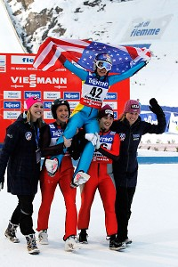 Sarah Hendrickson won the 2013 world title in ski jumping in March.