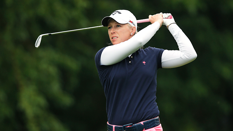 Worrying less about her Solheim status, Morgan Pressel gets exactly what she needs, a 68 in the first round of the LPGA Championship.