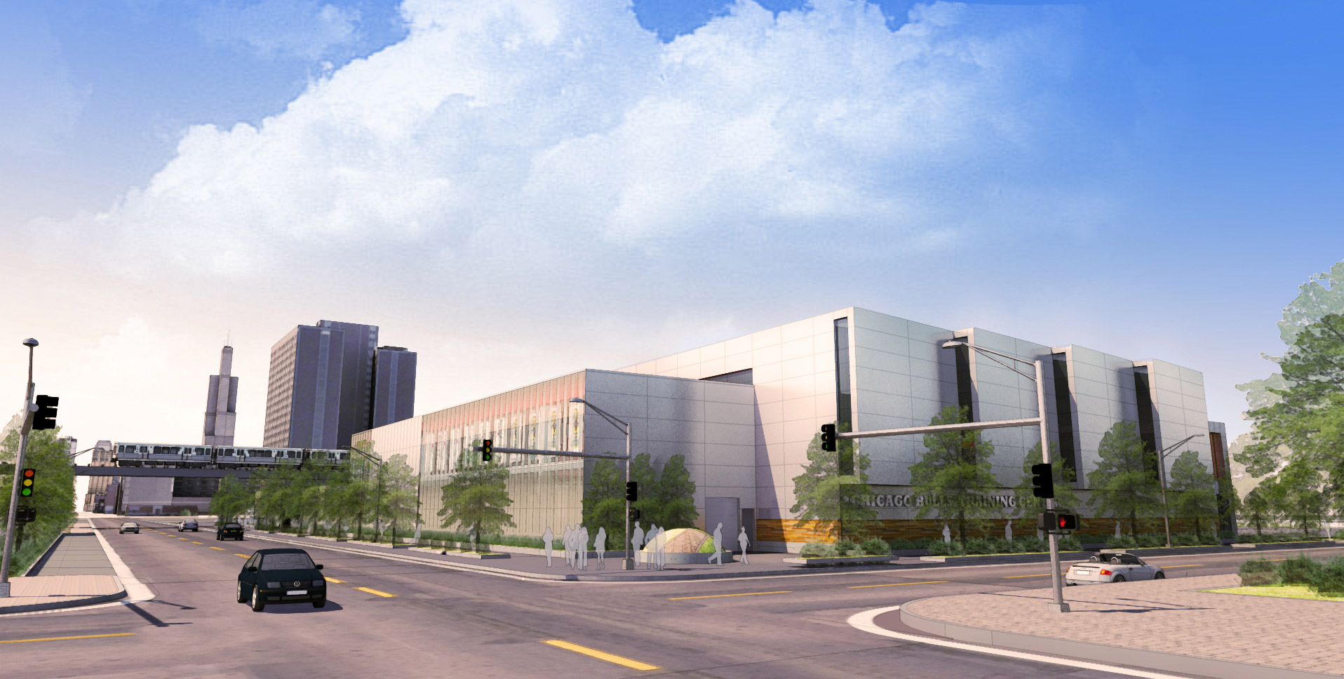 Renderings of the Bulls' practice facility