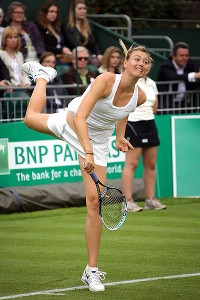 Maria Sharapova was fairly quiet Saturday but presumably will be making more noise in a few days.