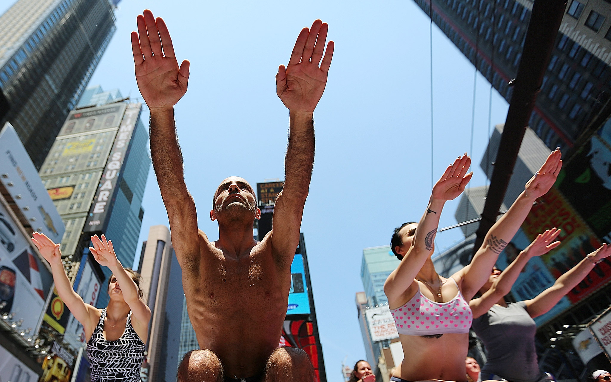 Summer Solstice in Times Square