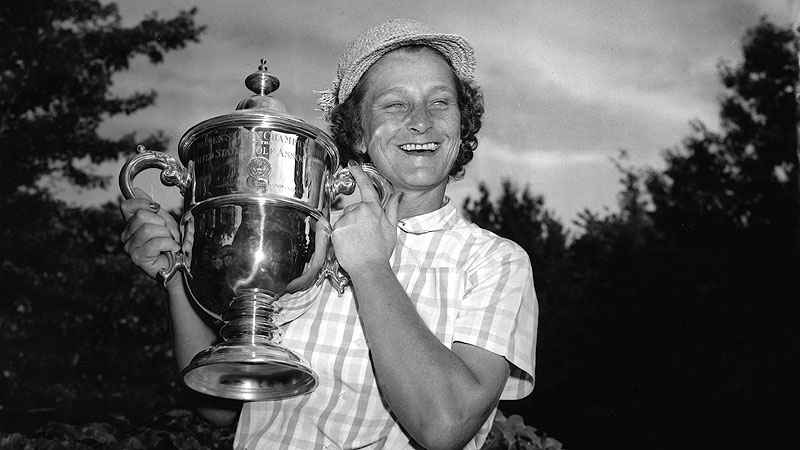 Babe Didrikson Zaharias won the 1954 U.S. Women's Open by 12 strokes over Betty Hicks at Salem Country Club in Peabody, Mass.