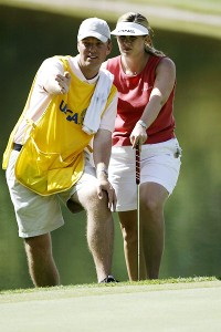 Hilary Lunke's husband, Tylar, was her caddie that week, a memory they can cherish for a lifetime.
