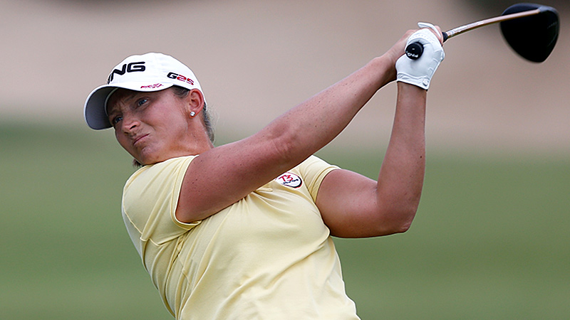 Her emotions got the best of her in an opening 73, but Angela Stanford was determined to be more patient Friday, and it paid off with a 68.