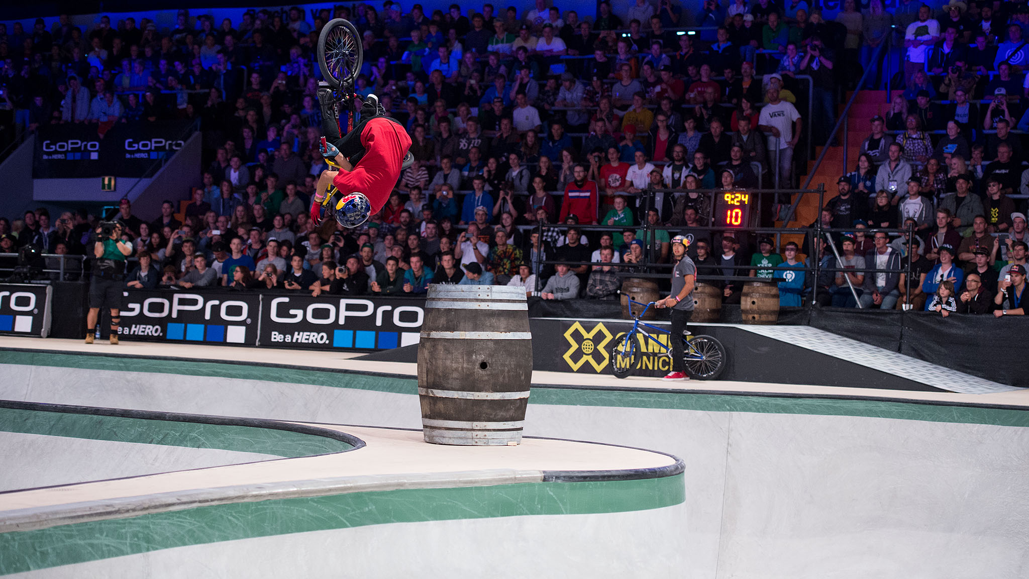 In previous years, Daniel Dhers was a perennial favorite to win X Games gold in BMX Park. This year, through X Games Foz and X Games Barcelona, Dhers seemed to have lost his footing, placing off the podium at both stops. That changed at X Games Munich. Dhers earned his first gold medal of the year with moves such as this turndown flair.