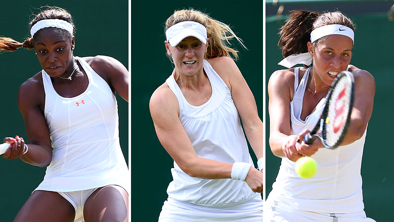 Sloane Stephens, Alison Riske, and Madison Keys
