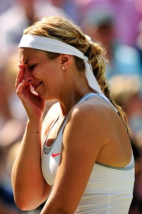 Sabine Lisicki fought back tears as things became more desperate in the final.