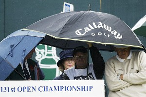 Colin Montgomerie shot 64 on Friday at the '02 Open. Then the weather rolled in and he shot 84.