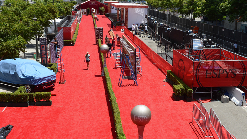 Red Carpet setup.
