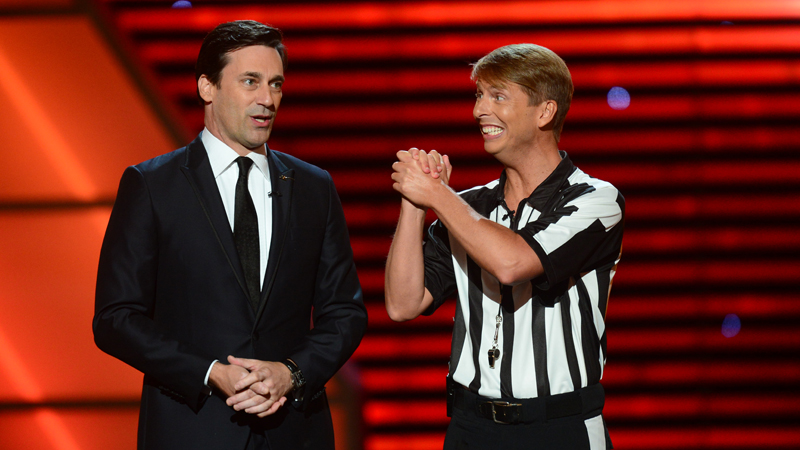 Jon Hamm and Jack McBrayer during The 2013 ESPYS.