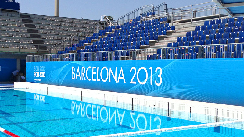 The beautiful pool in Barcelona will be a lot busier when the water polo world championships begin this weekend.