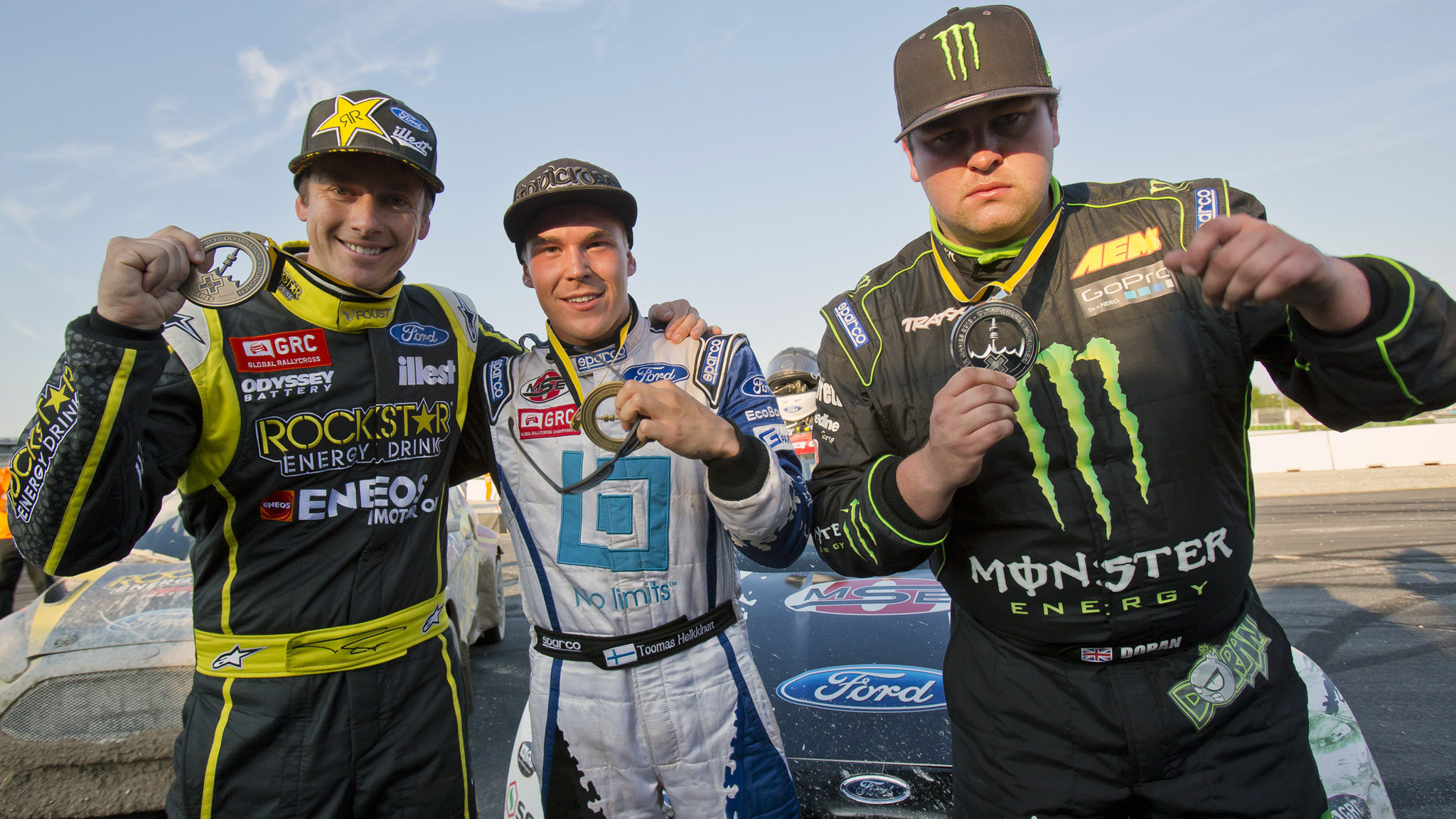 Tanner Foust, Toomas Heikkinen, Liam Doran
