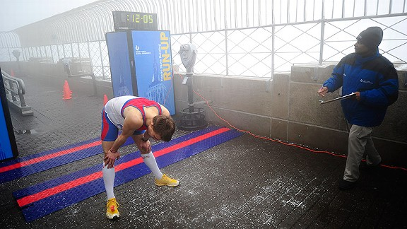 Tower runners are pushed to their limits in races like the Empire State Building Run-Up in New York.