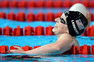 Katie Ledecky crushed the world record in the 1,500 freestyle by more than 6 seconds.