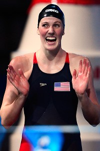Missy Franklin entered elite company Sunday as she won her sixth gold medal at the swimming world championships.