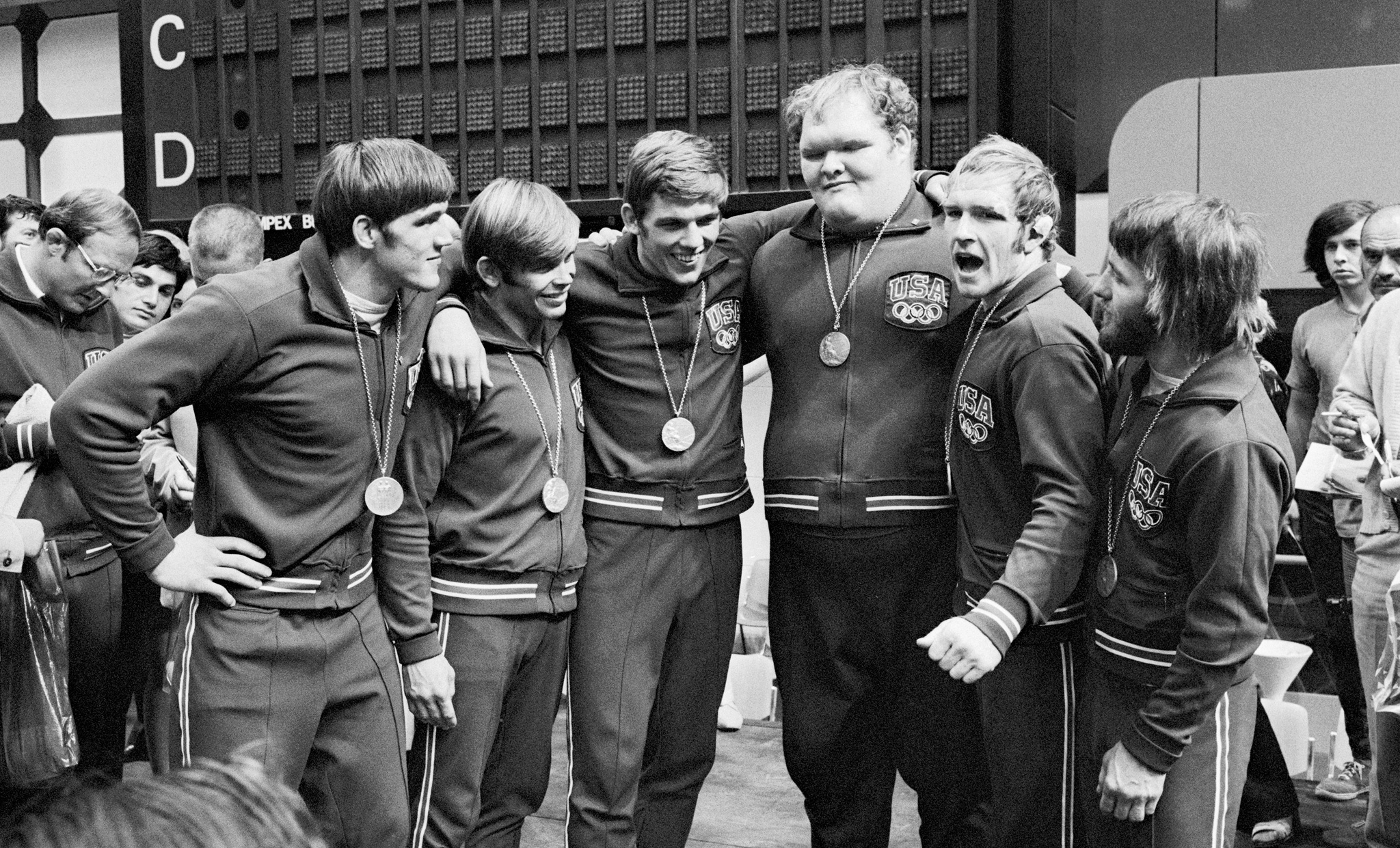 USA's 1972 Olympic wrestling team in Munich