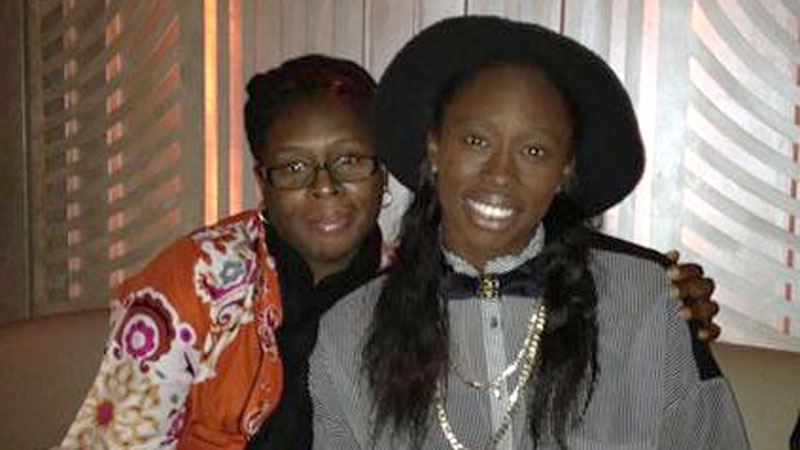 New York Liberty veteran Essence Carson with her mom Stacey Ransaw.
