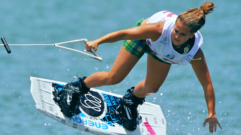 Raimi Merritt looks to defend her title in the International World Wakeboard Federation championship, taking place in South Korea from Wednesday to Sunday.