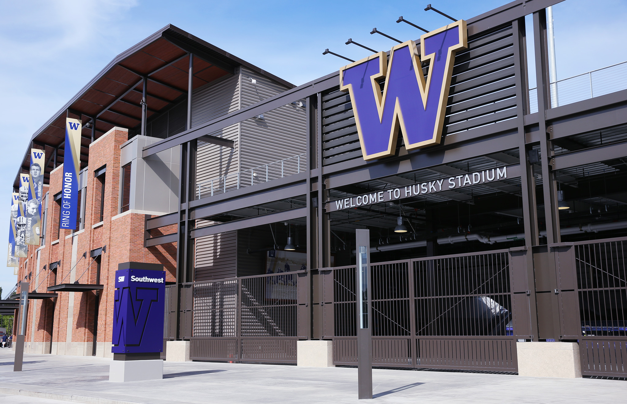 Southwest entrance of Seattle's Husky Stadium