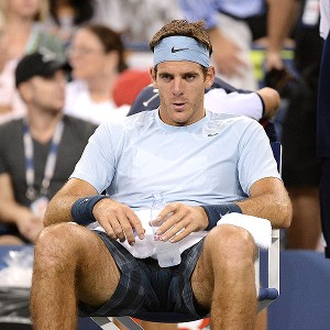 Juan Martin del Potro not only lost, but says his surgically repaired wrist is aching again.