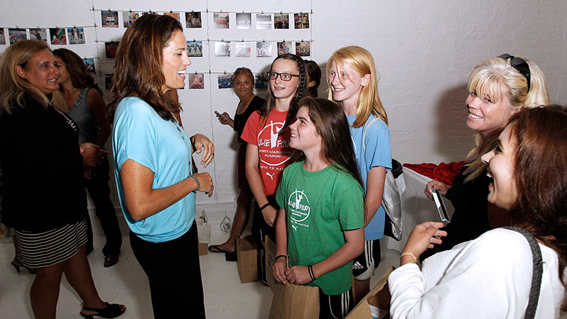 Julie Foudy checked in with fans after a special screening of her Nine for IX film The 99ers.