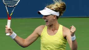 American Alison Riske, who beat her first top-10 opponent Saturday, said she has a new confidence in herself.