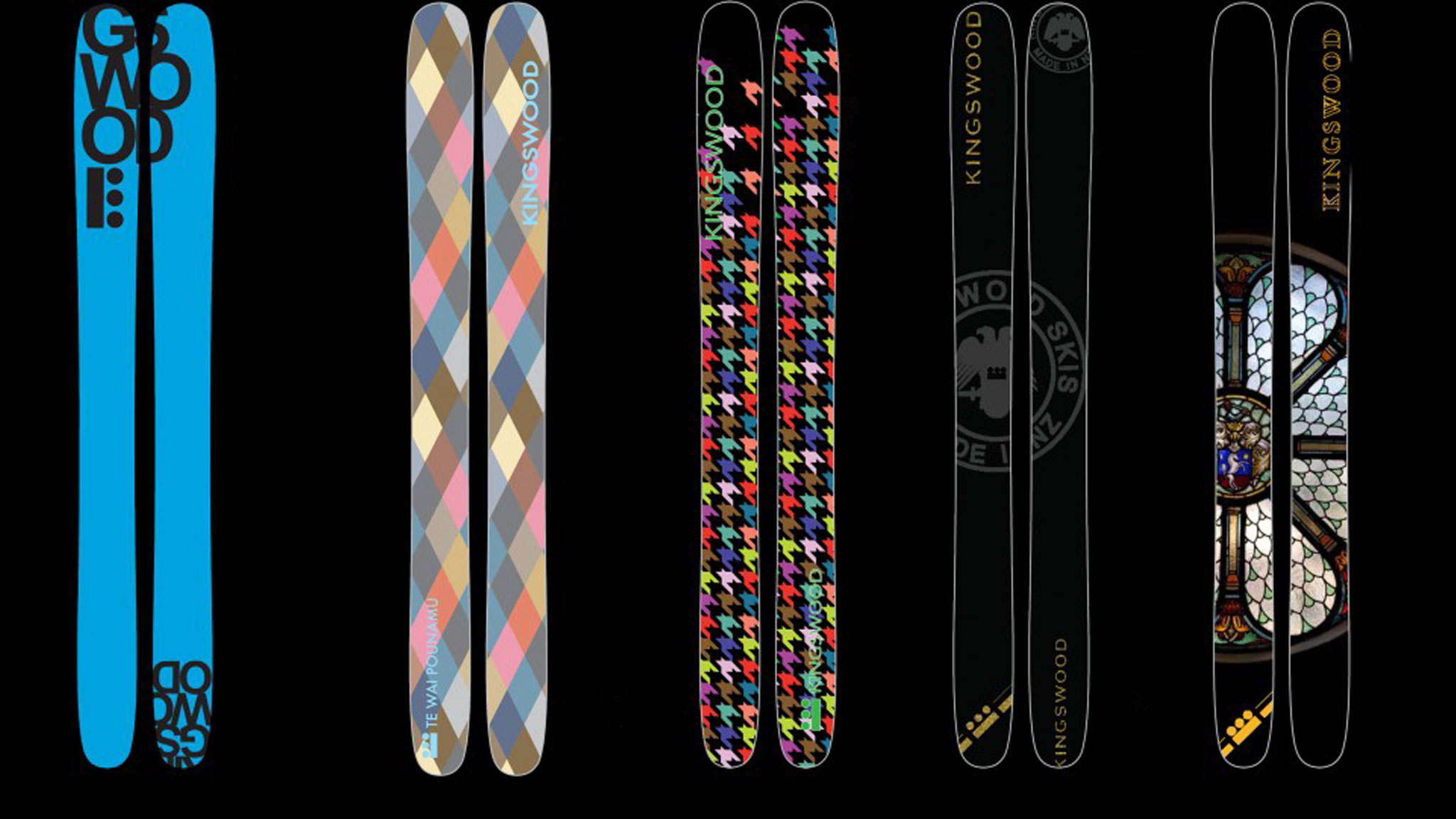The flex, weight, length and graphics of New Zealand's Kingswood Skis can be customized.