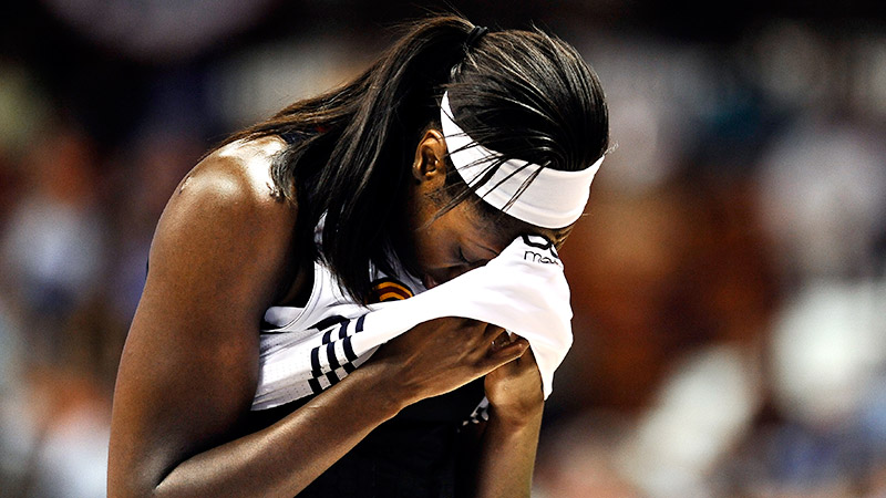 It's been a tough season for Tina Charles and the Connecticut Sun. The team was riddled with injuries and officially eliminated from the playoffs Aug. 31.