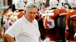University of Texas president Bill Powers said football coach Mack Brown isn't facing an ultimatum about a minimum standard of wins or a Big 12 championship to keep his job.