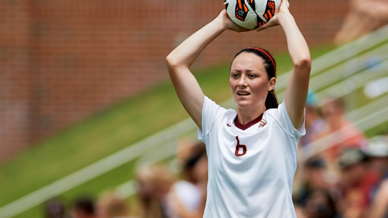 Megan Campbell's long throw-ins can set up scoring chances for Florida State.