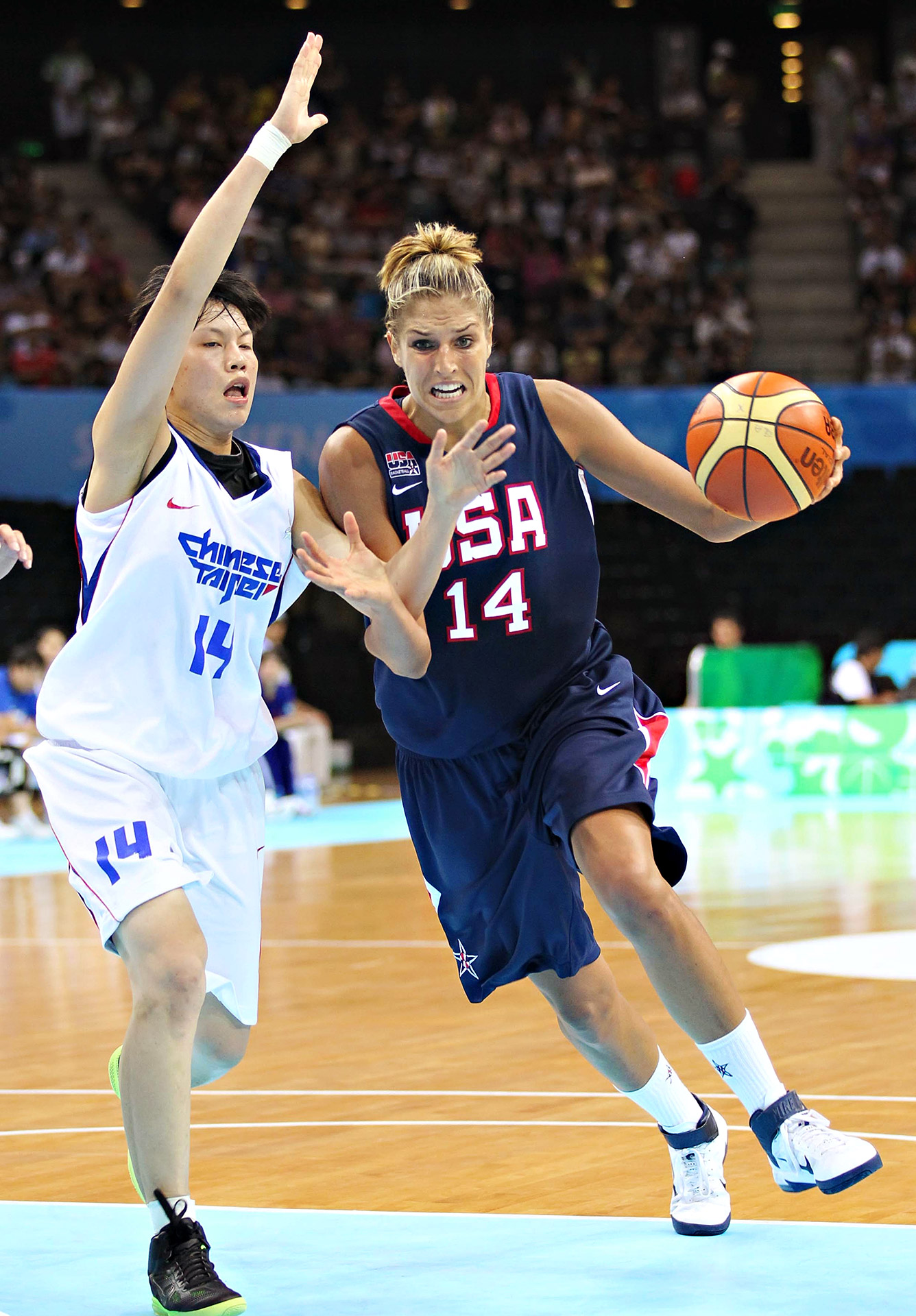 Elena Delle Donne led Team USA in scoring and rebounding at the World University Games in China in 2011. The United States, which also featured Nneka Ogwumike and Skylar Diggins, won gold.