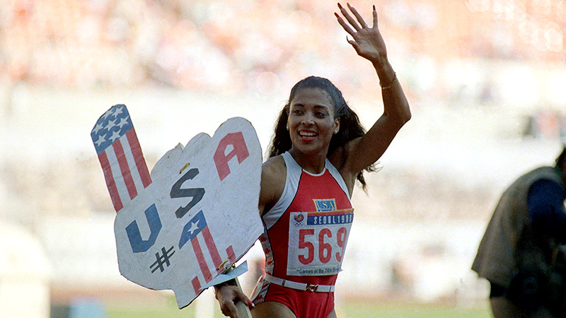 Florence Griffith Joyner, remembered as the world's fastest woman, cemented her legacy in Seoul by winning three gold medals.